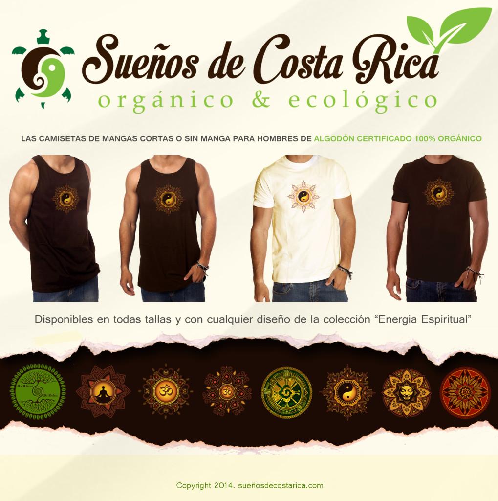 Ropa ecologica : las camisetas de Algodón orgánico par hombres
