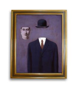 """René Magritte : """"el hombre al sombrero"""""""